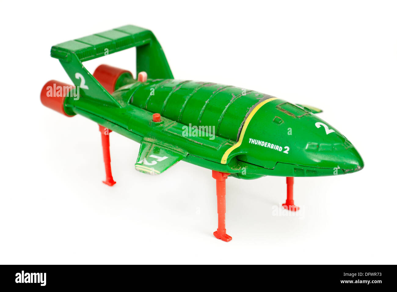 """""""Thunderbird 2"""" rescue aircraft model toy from the 1960's TV-series """"Thunderbirds"""", made by Matchbox Stock Photo"""