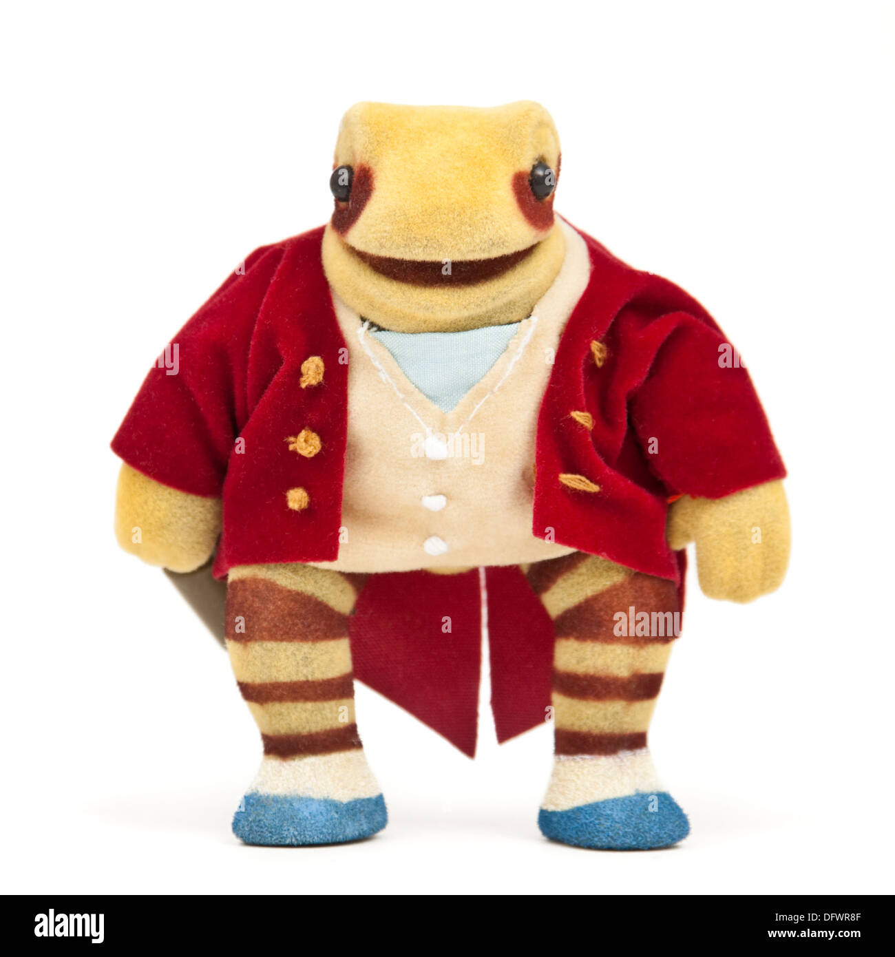 Plush toy based on 'The Tale of Mr Jeremy Fisher' by Beatrix Potter (1906) - Stock Image
