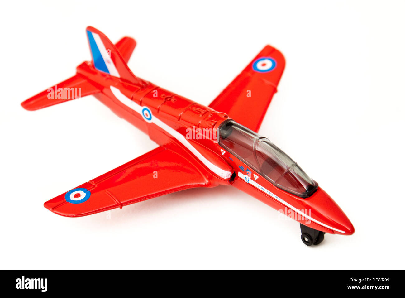 """Matchbox (1991) diecast model replica of the BAe Hawk Trainer Mk1 aeroplane, as used by """"The Red Arrows"""" (RAF Aerobatic Stock Photo"""