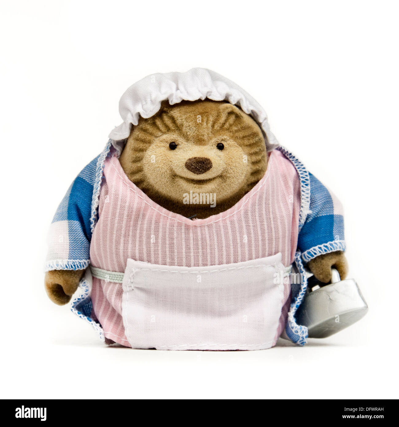Plush toy based on 'The Tale of Mrs Tiggy-Winkle' by Beatrix Potter (1905) - Stock Image