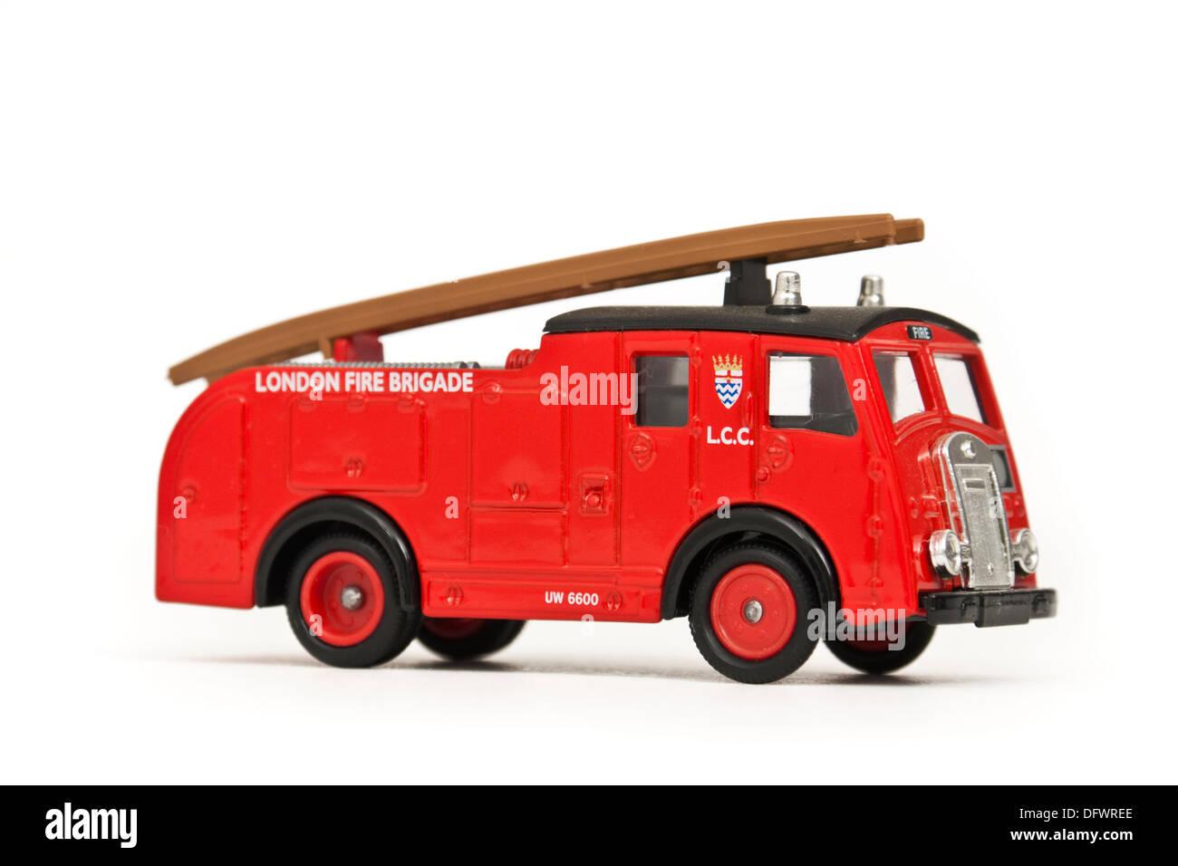 London Fire Brigade engine replica / diecast model toy - Stock Image