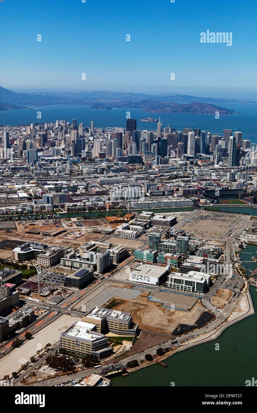 Aerial photograph Mission Bay San Francisco California - Stock Image