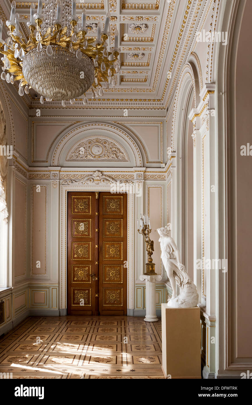 Elaborate door Yusupov Palace St Petersburg Russia - Stock Image