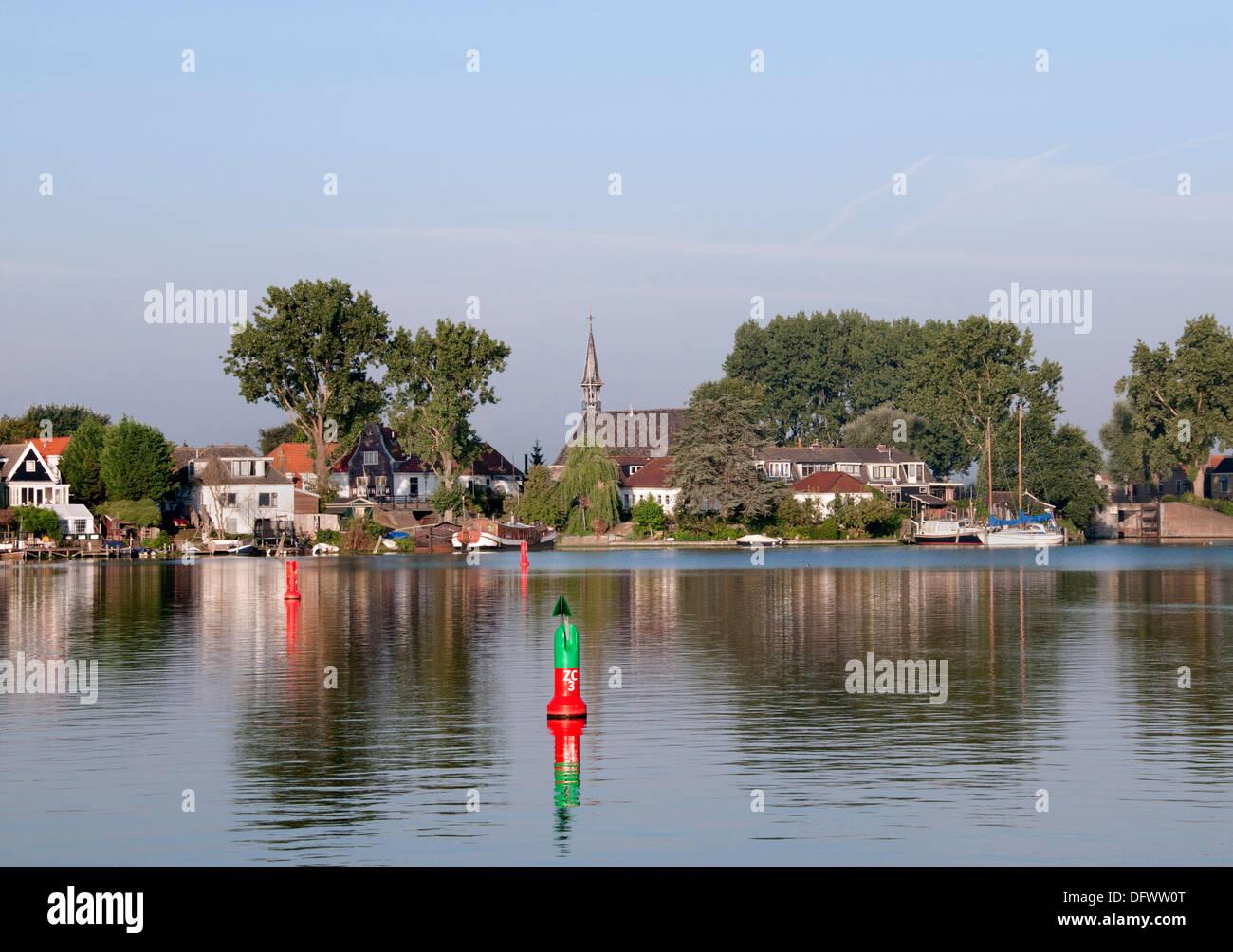 IJ Port Harbor Spaarndam IJdijk  Netherlands Holland Dutch - Stock Image