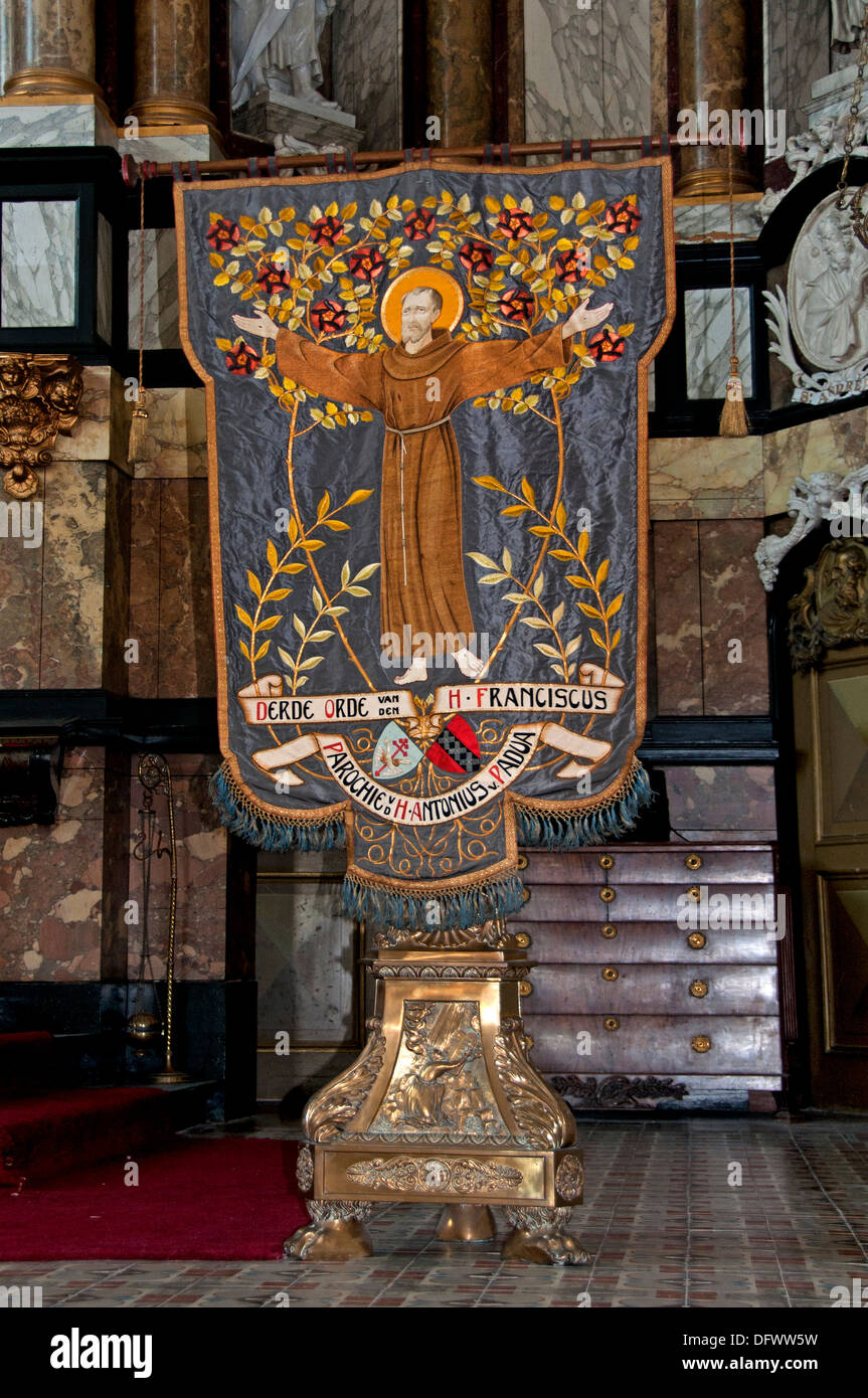 Third Order of Saint Francis Mozeshuis - Mozes en Aaronkerk Waterlooplein Flea market Amsterdam Netherlands - Stock Image