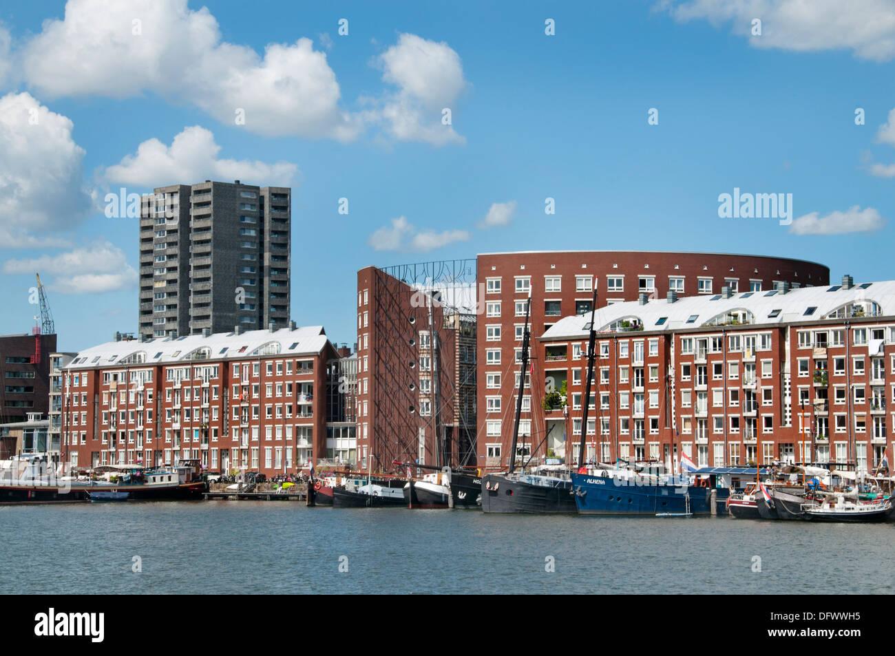 Amsterdam ( Zeeburg -- Java -  KNSM  - Eiland ) Netherlands Dutch modern city town - Stock Image