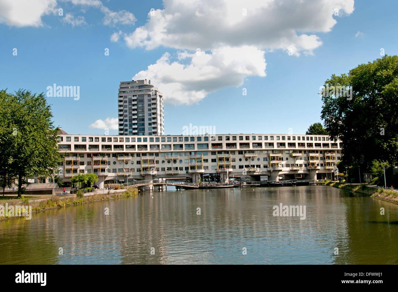Amsterdam Zeeburg Netherlands Dutch modern city town - Stock Image