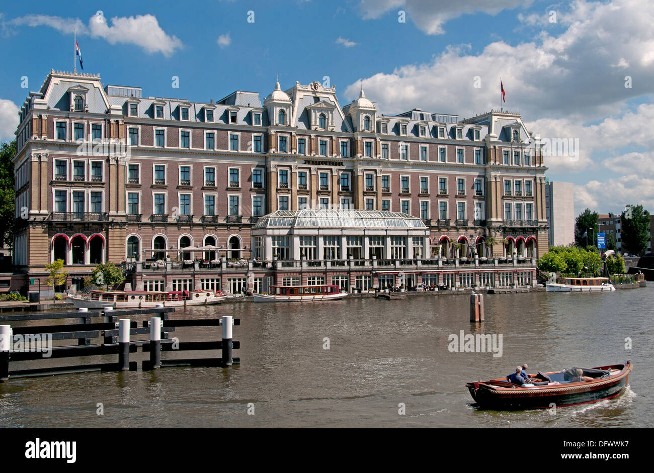 InterContinental Amstel on the Amstel Amsterdam Netherlands - Stock Image