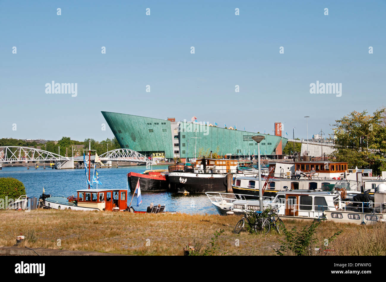Science museum Nemo at the IJ Amsterdam Netherlands - Stock Image