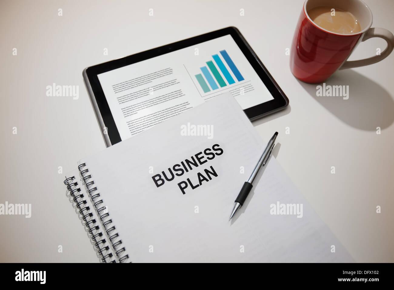 Entrepreneurial business plan preparation. - Stock Image