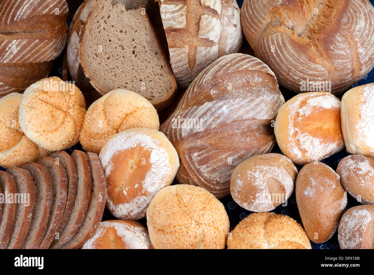 Bread, buns - bakery products - Stock Image