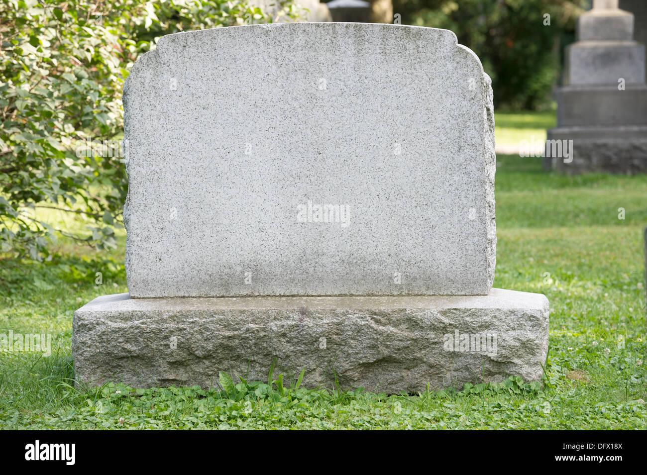 Blank headstone in cemetery Stock Photo: 61422730 - Alamy