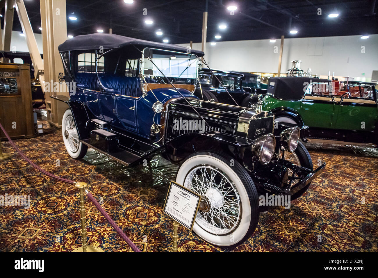 1913 Lozier Type 72 Lakewood Torpedo once owned by Henry Huntington at the Nethercutt Collection in Sylmar California - Stock Image