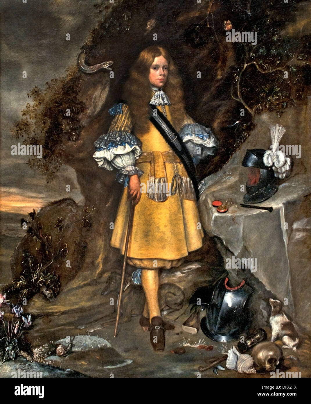 Memorial Portrait of Moses ter Borch ( Dutch Navy ) 1667 by Gerard and Gesina ter Borch - Stock Image