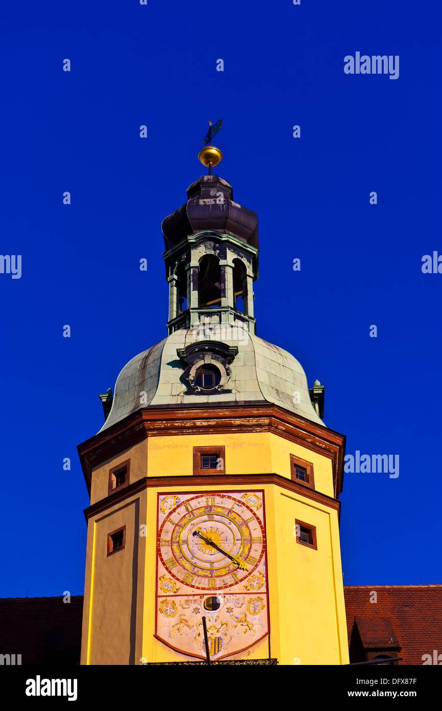 Altes Rathaus Old City Hall, Markt Market Square, Leipzig, Saxony, Germany - Stock Image