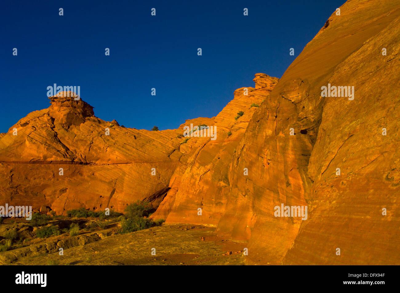 Rock formations, Water Holes Canyon, Navajo Nation, near Page, Arizona USA - Stock Image