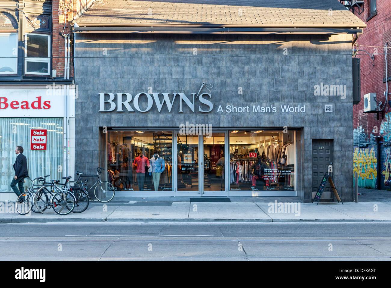 ec7e62e697 Shops in Queen Street West - Brown's, a short man's world and bead shop -  Toronto