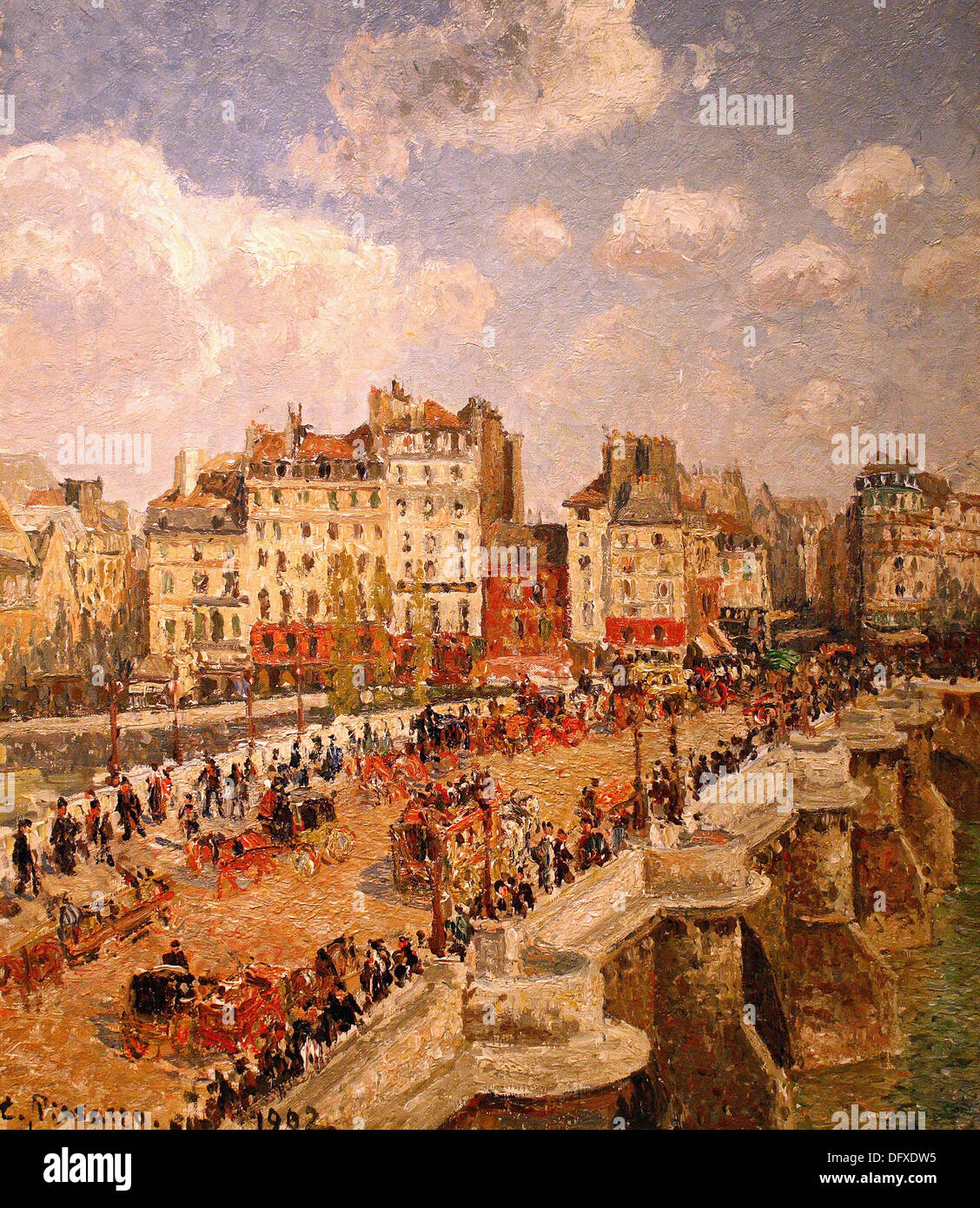 Camiller PISSARRO - Le Pont-Neuf - 1902 - Museum of Fine Arts - Budapest, Hungary. - Stock Image