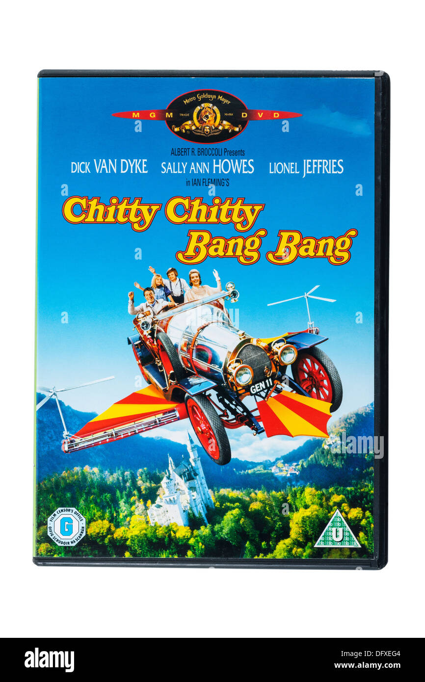 A film dvd called Chitty Chitty Bang Bang on a white background - Stock Image