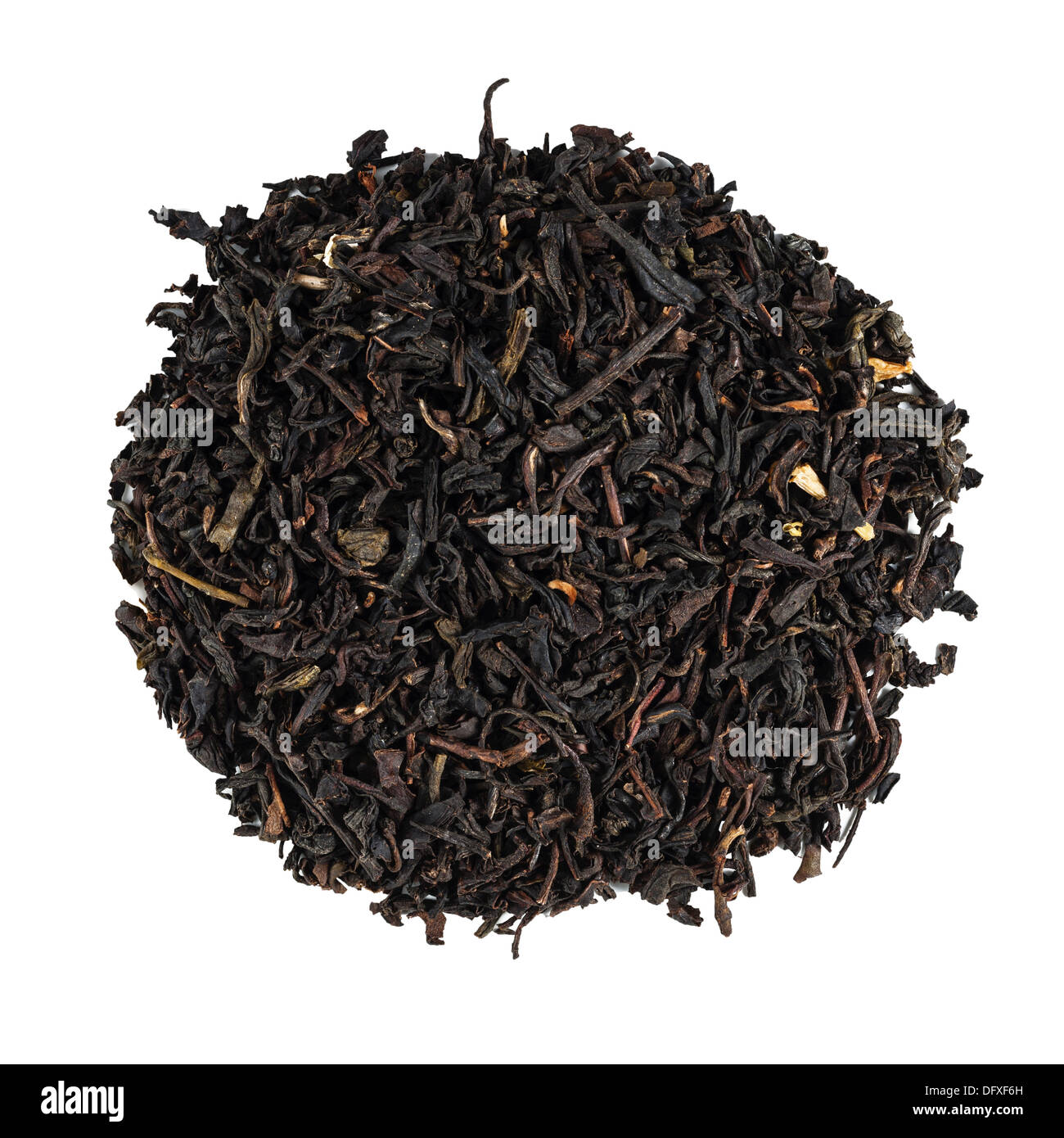 Loose Earl Grey Tea on a white background - Stock Image