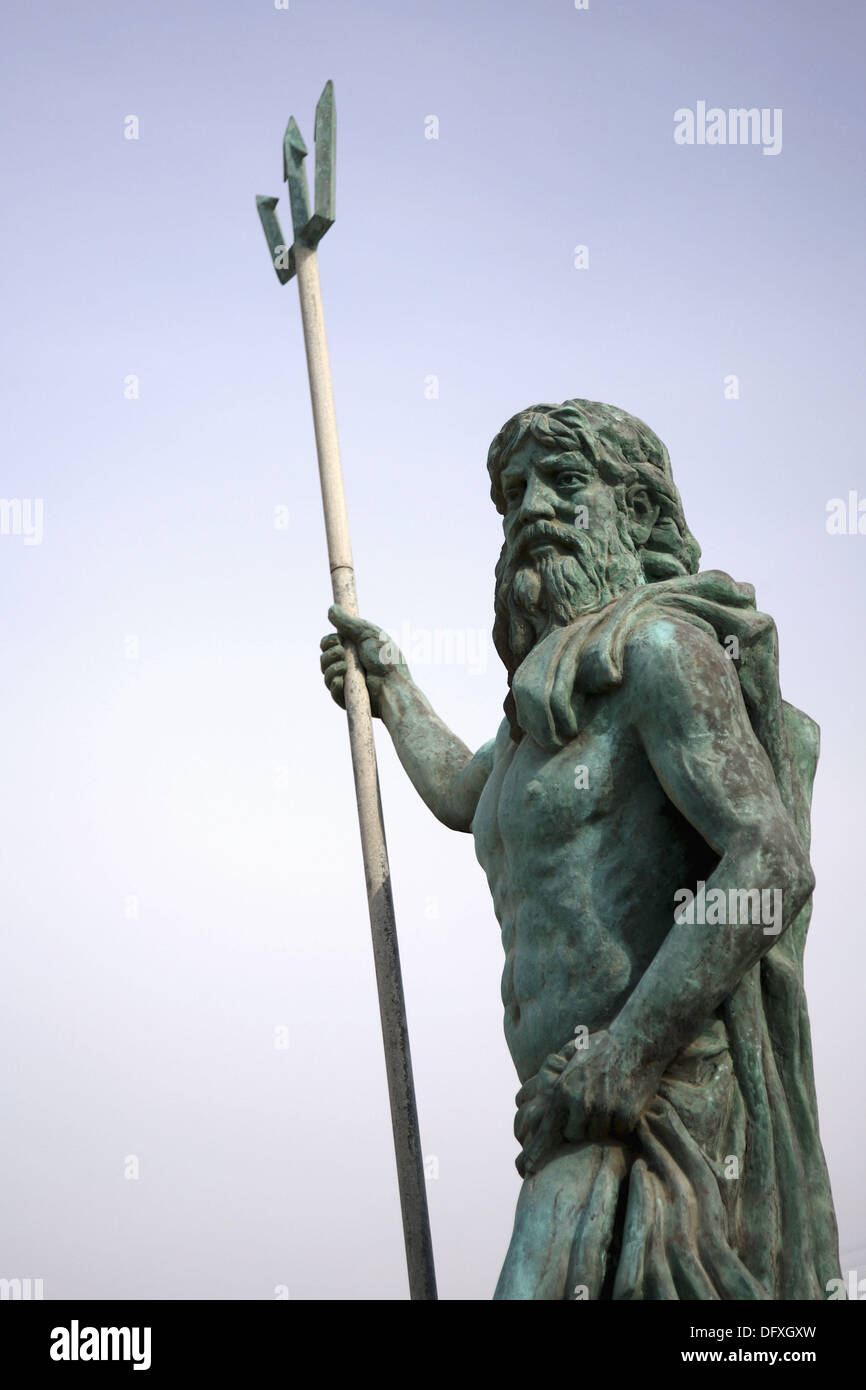 A statue of Poseidon on the lsland of Kos. Kos. Greece - Stock Image