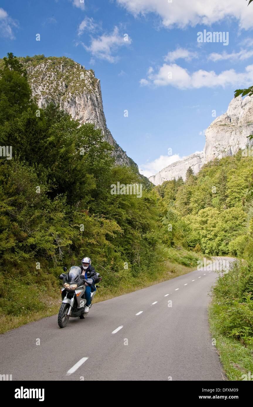Vistas Carretera de Anzó a Zurita, Huesca, España. - Stock Image