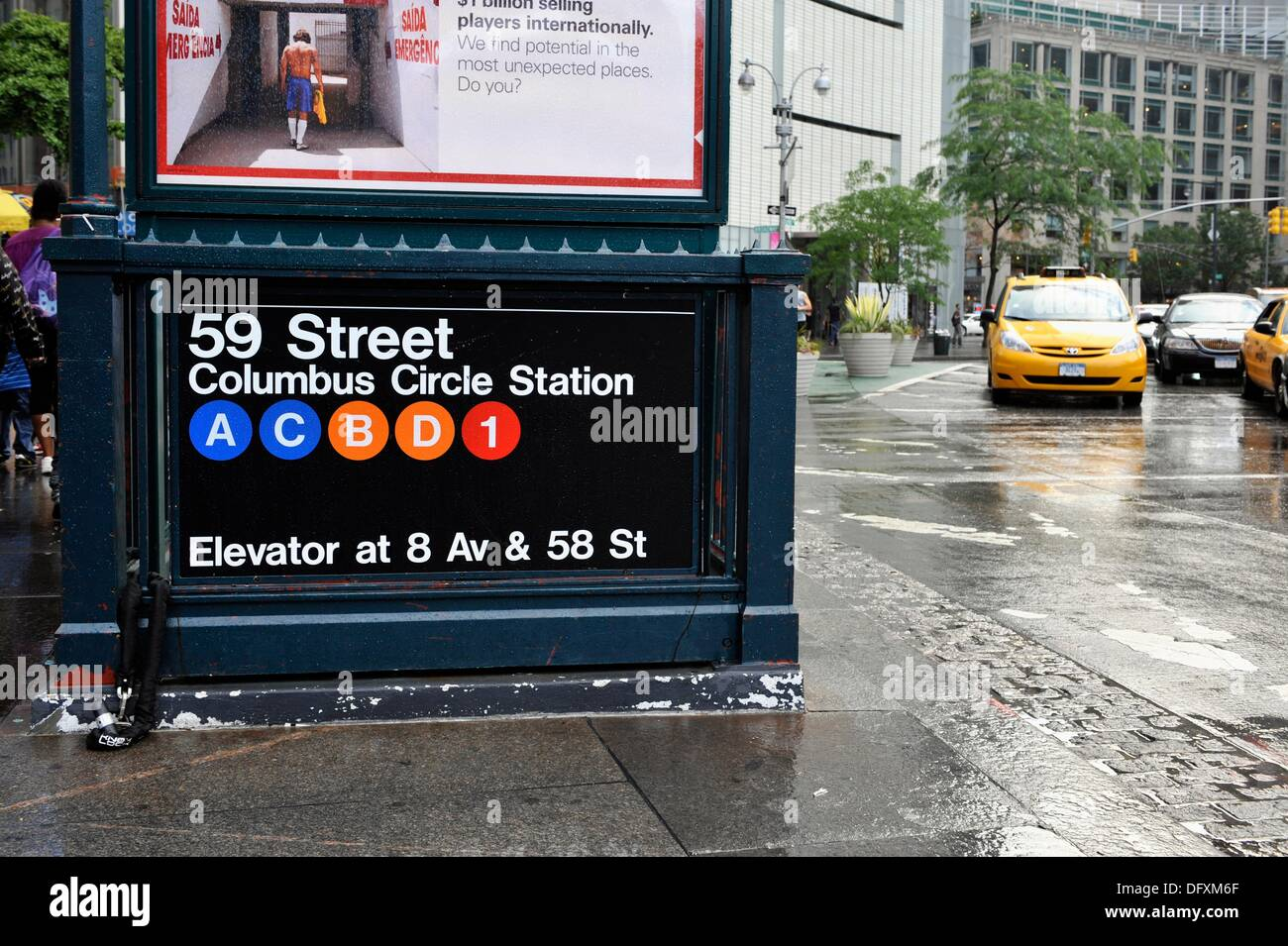 59th Street Columbus Circle Station Sign New York NY USA