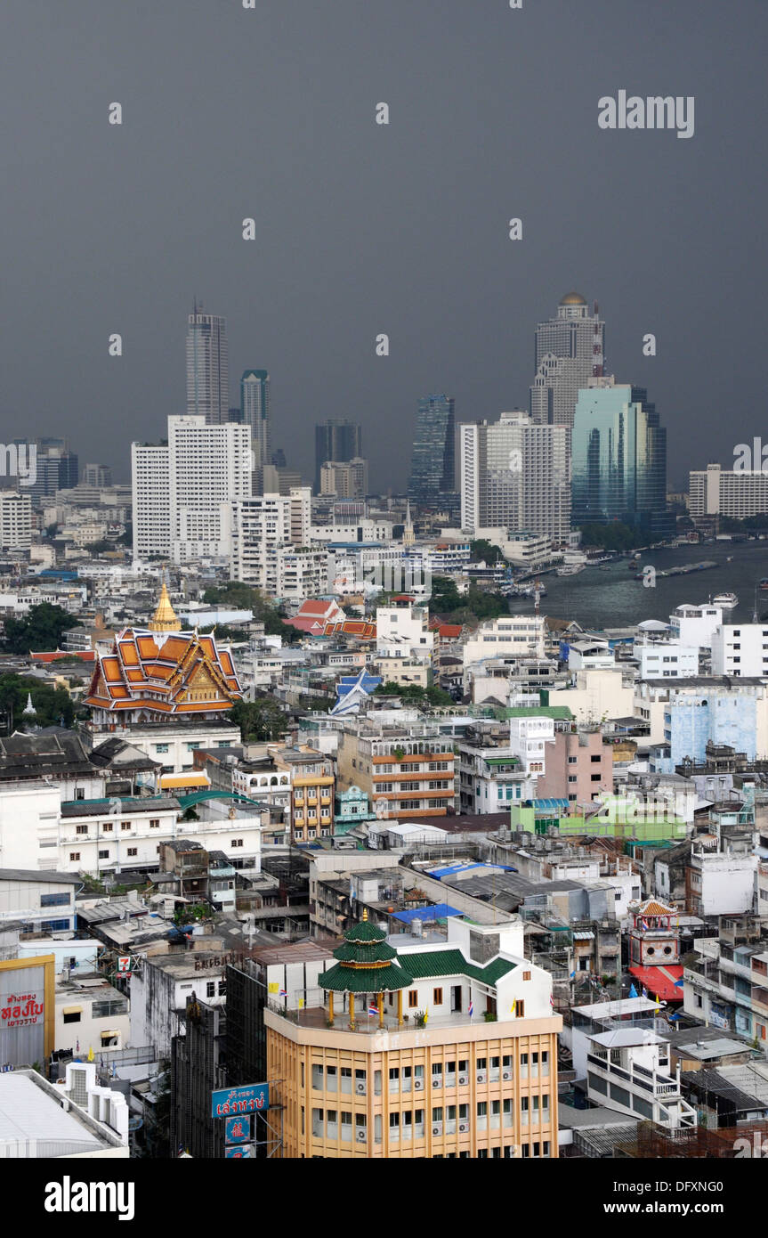 Black Sky over Bangkok - Stock Image