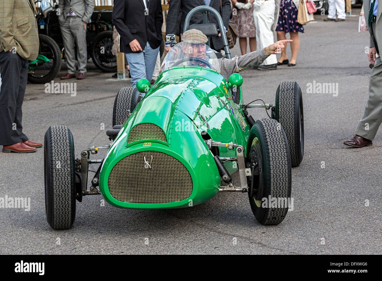 1952 Cooper-Bristol MkII in the paddock at the 2013 Goodwood Revival, Sussex, UK. - Stock Image