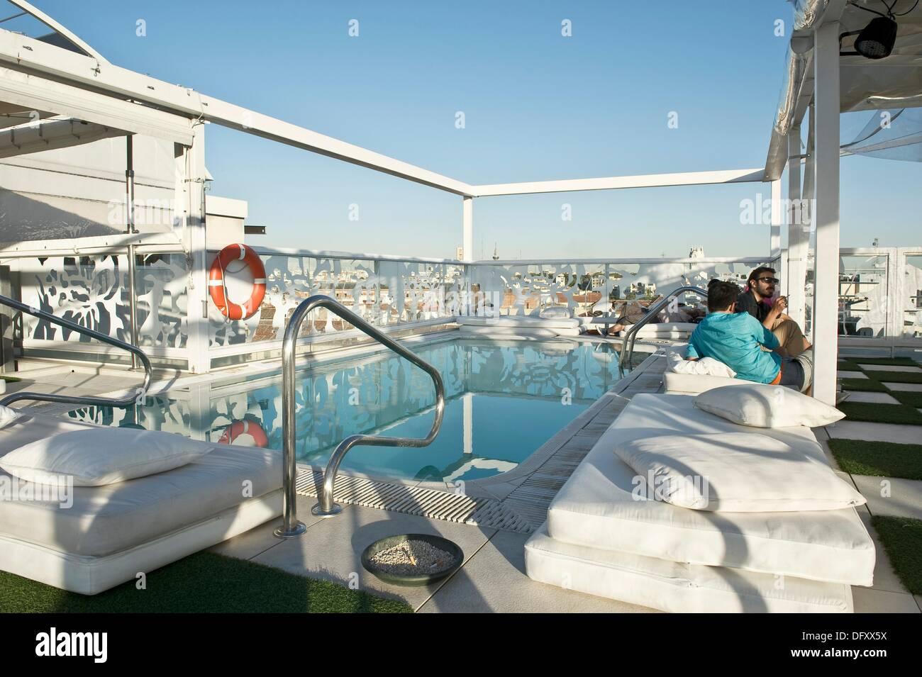 Oscar Hotel Terrace In Madrid Spain Stock Photo 61442246