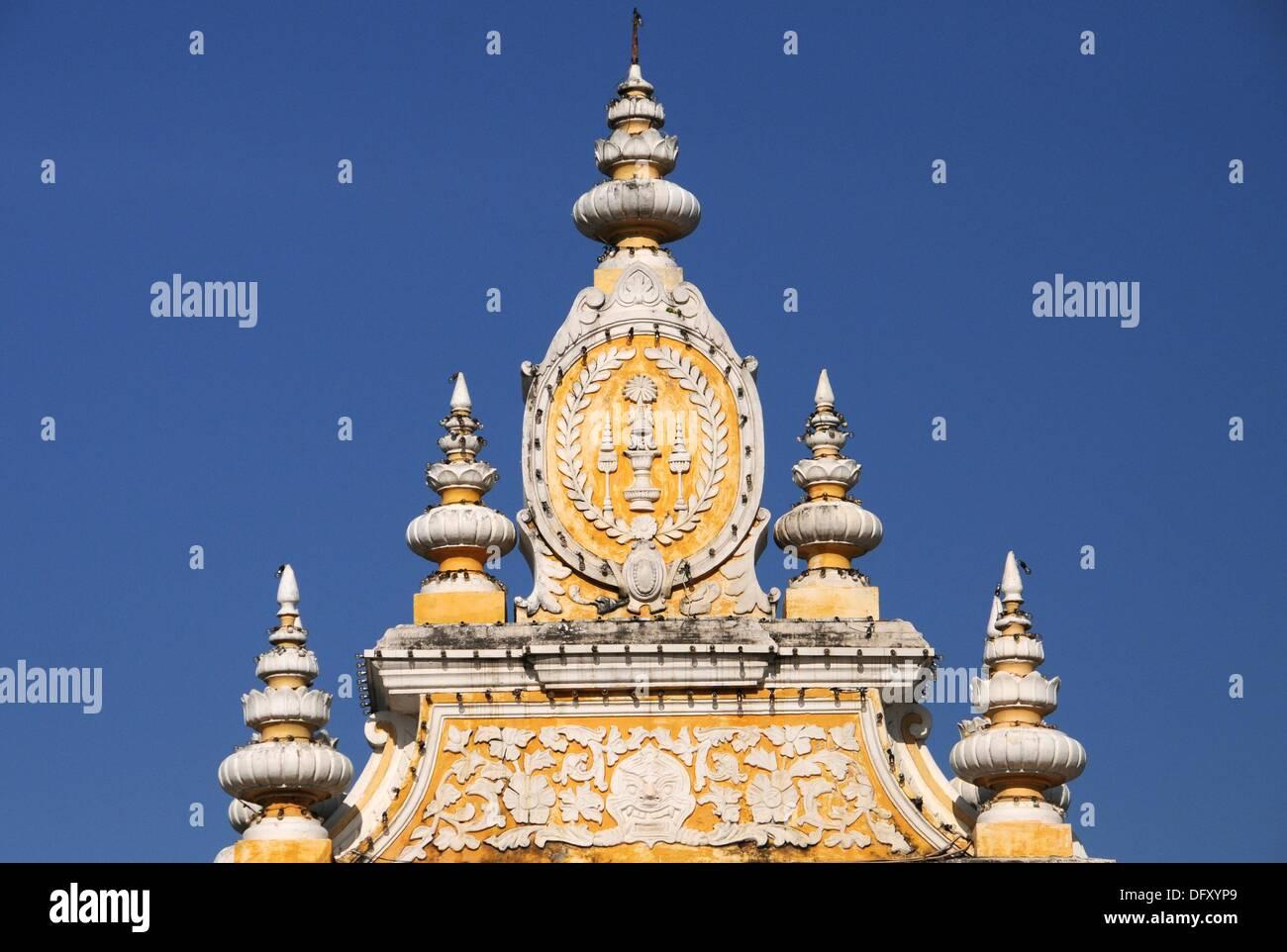 Embleme of the Kingdom of Cambodia - Stock Image