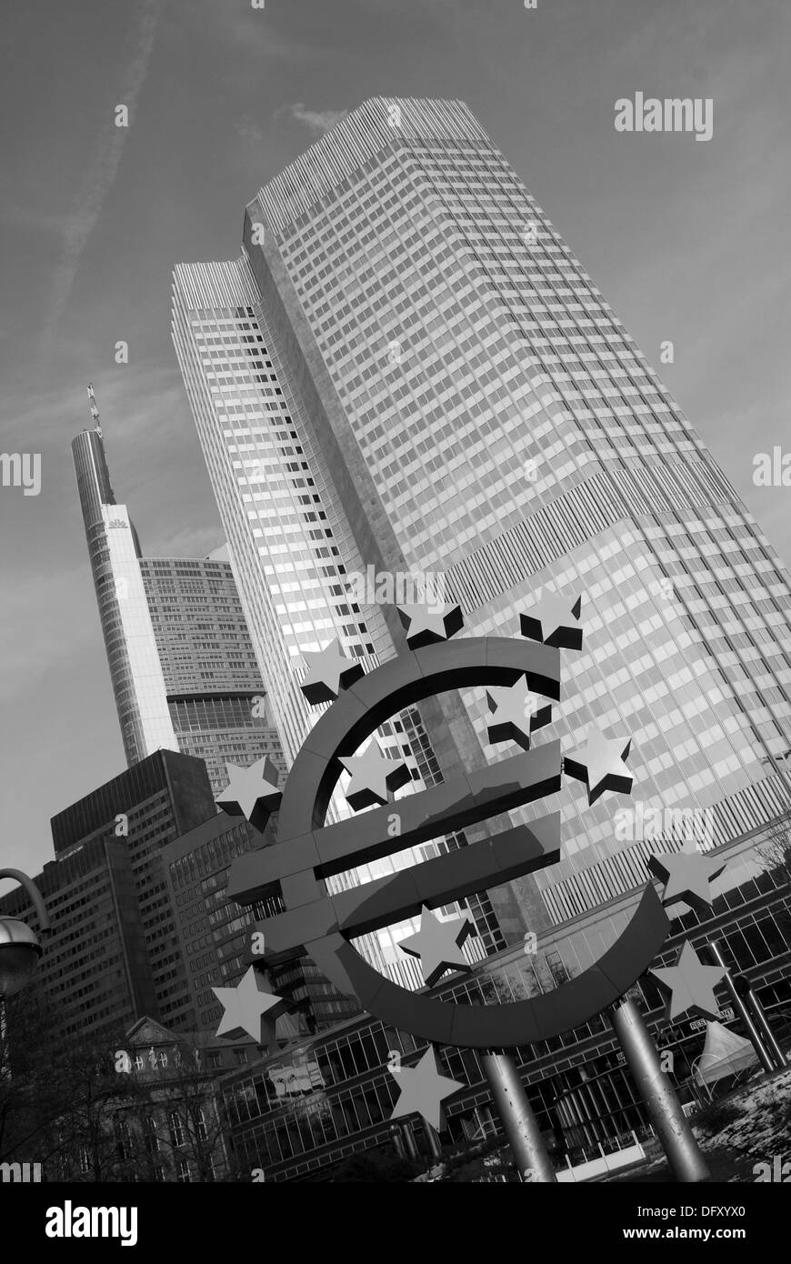 European Central Bank in Frankfurt - Stock Image