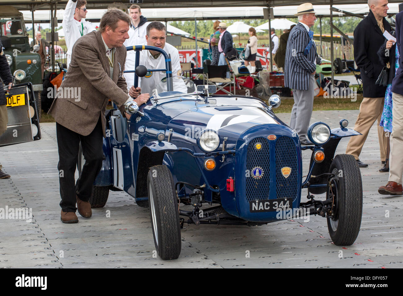 1951 Buckler Mk6 leaves the paddock at the 2013 Goodwood Revival, Sussex, UK. Stock Photo