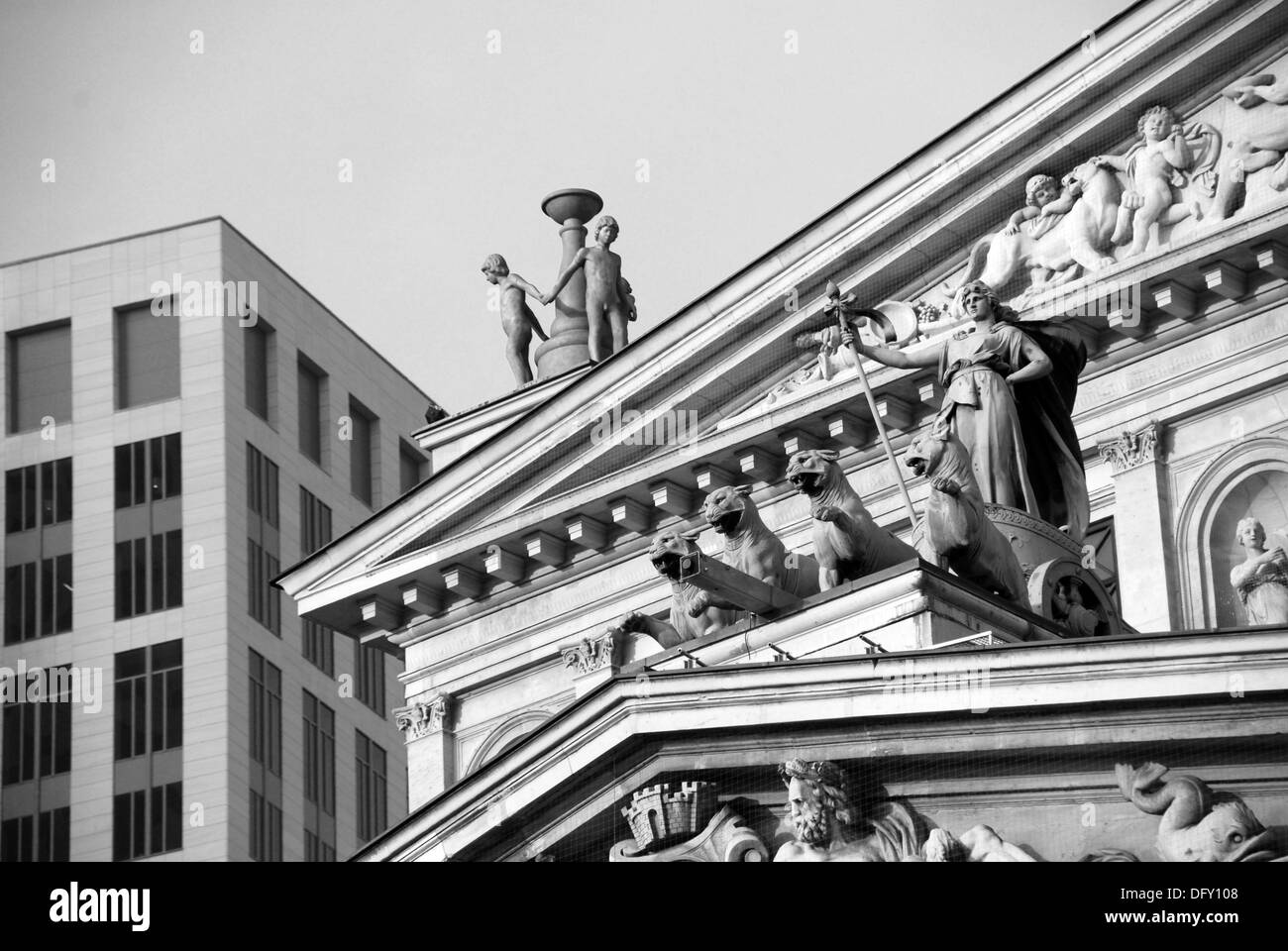 Detail at the old Opera in Frankfurt - Stock Image