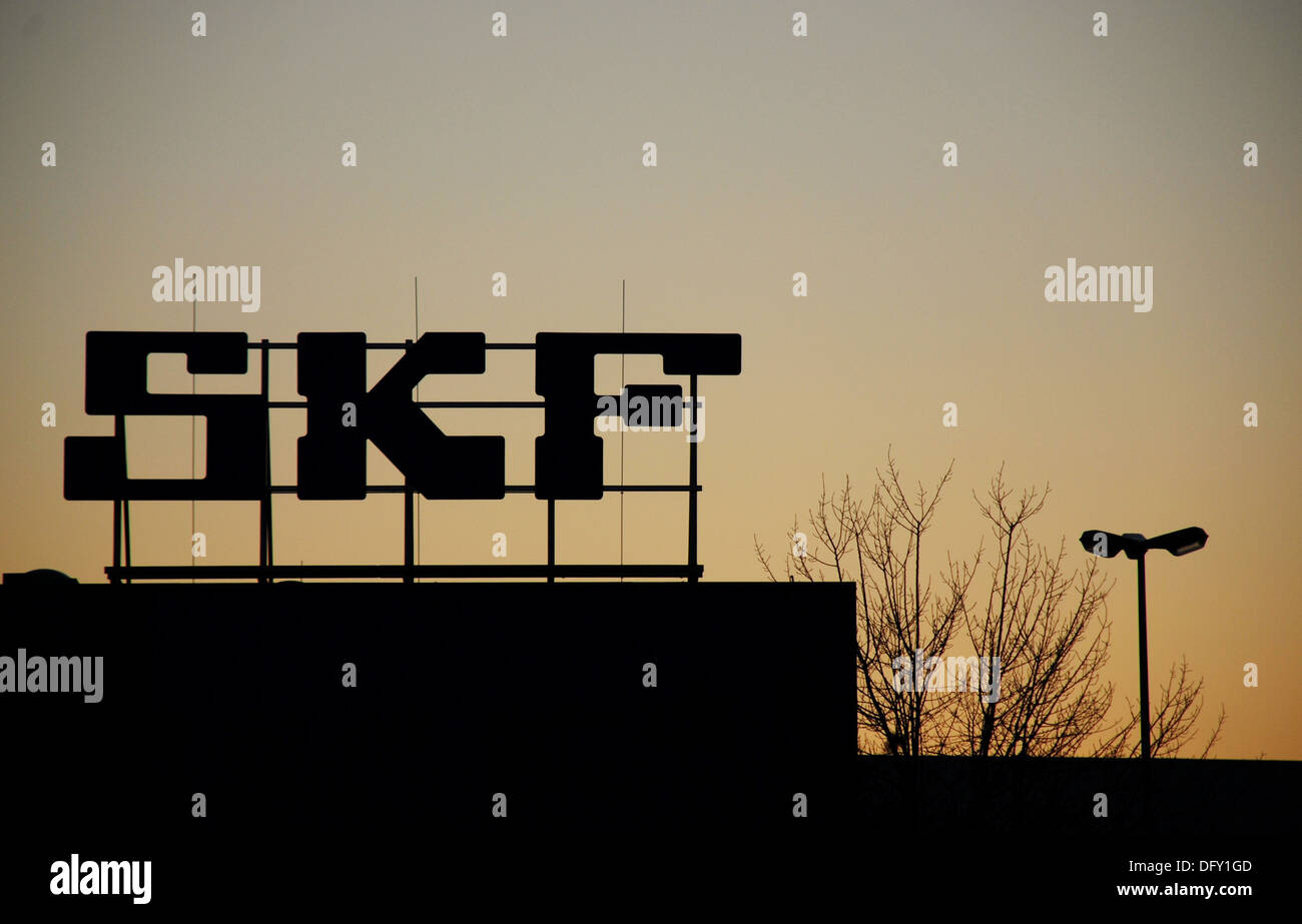 SKF Factory in Schweinfurt at the Evening - Stock Image