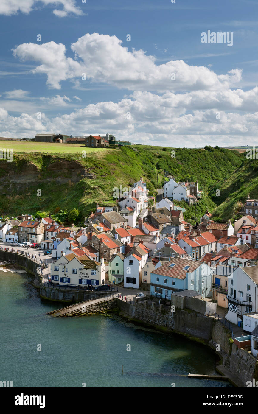 Staithes fishing village on the Yorkshire coast. - Stock Image