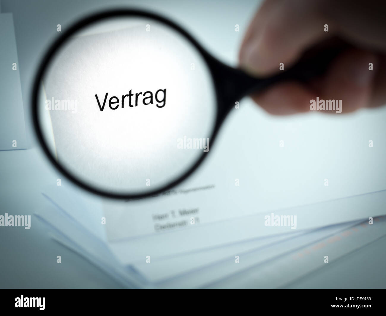 Cover Letter With The Word Vertrag In The Letterhead Stock