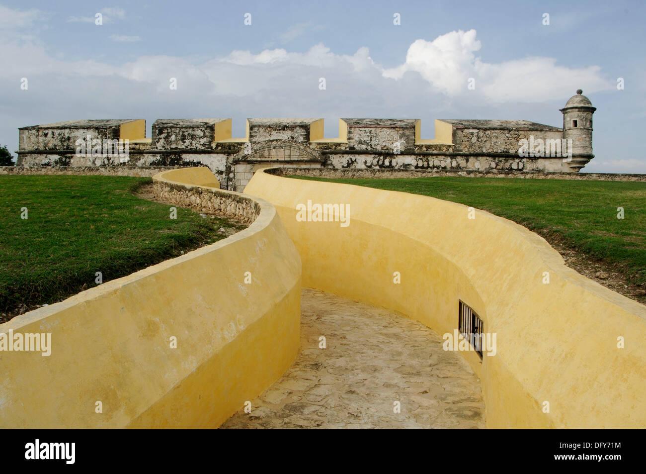 Reducto de San Jose. El Reducto de San José el Alto fue construido en el siglo XVIII por el teniente de rey Jose Sabido Vargas - Stock Image