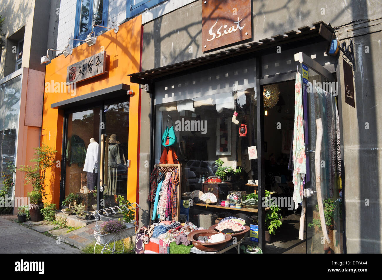 Seoul (South Korea): trendy boutiques in the Bukchon neighborhoodStock Photo
