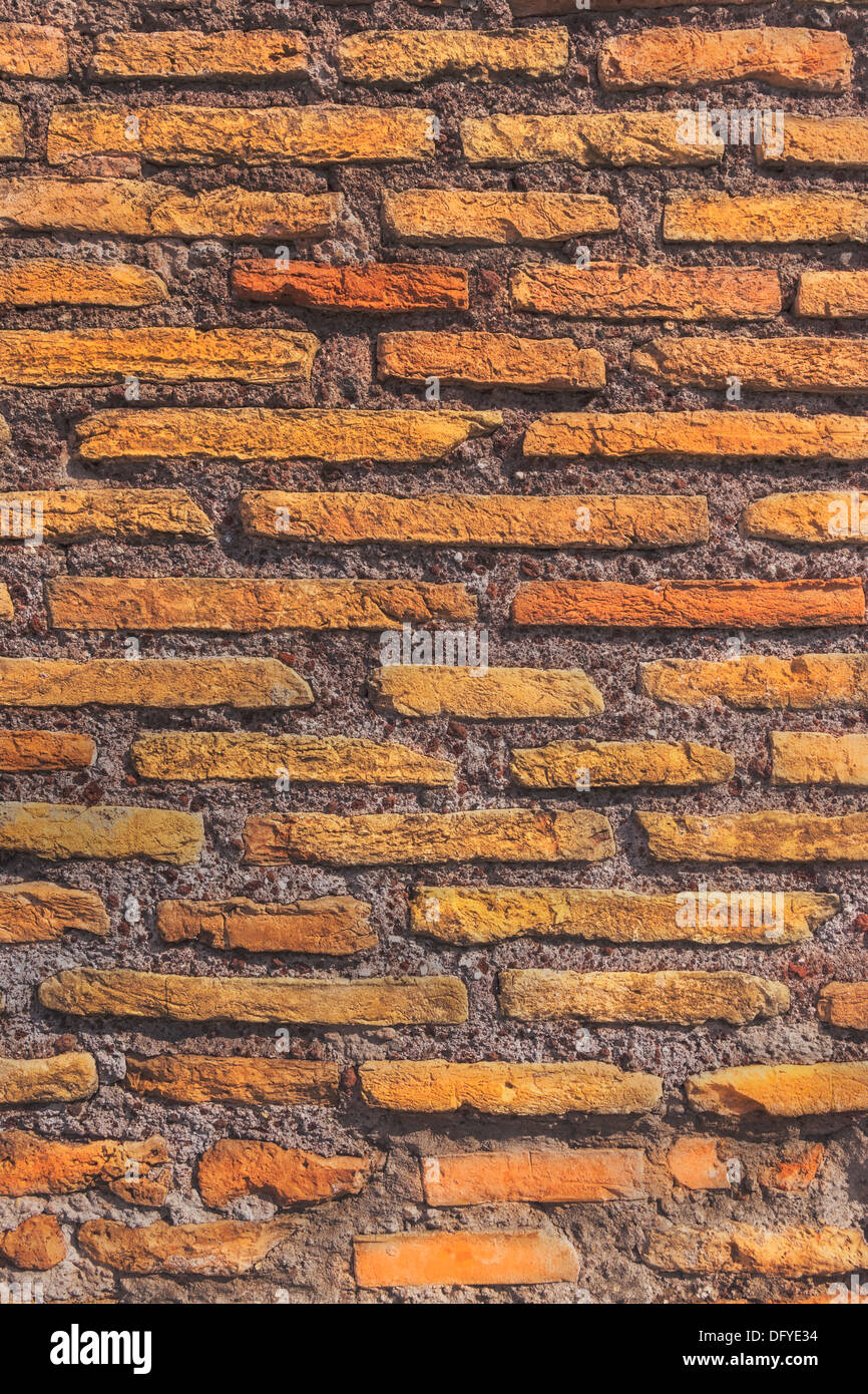 Detail photo of a brick wall - Stock Image