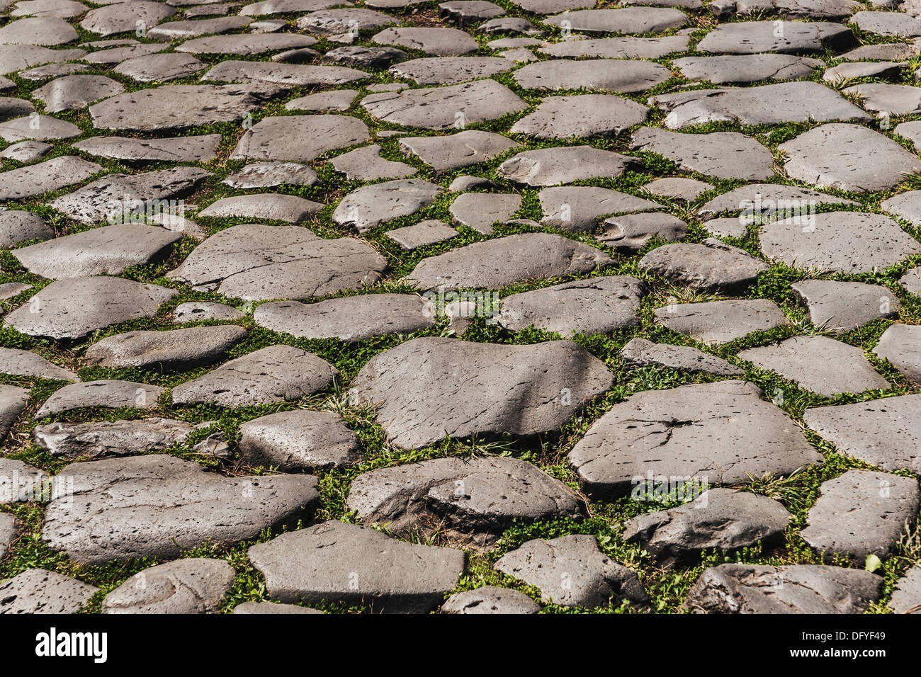 Part of the old road Clivo Argentario in the Italian capital, Rome, Lazio, Italy, Europe - Stock Image