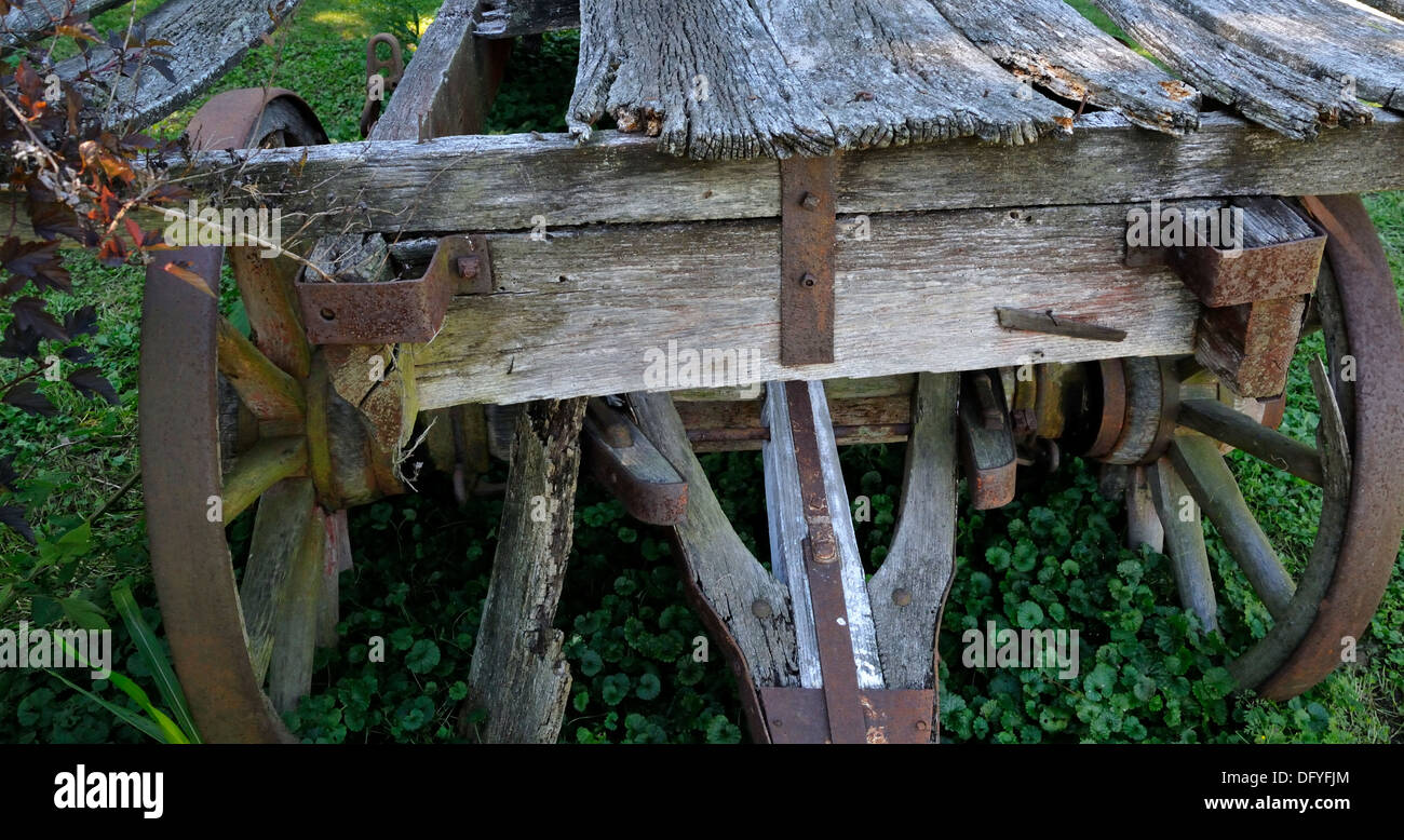Old wooden wagon. - Stock Image
