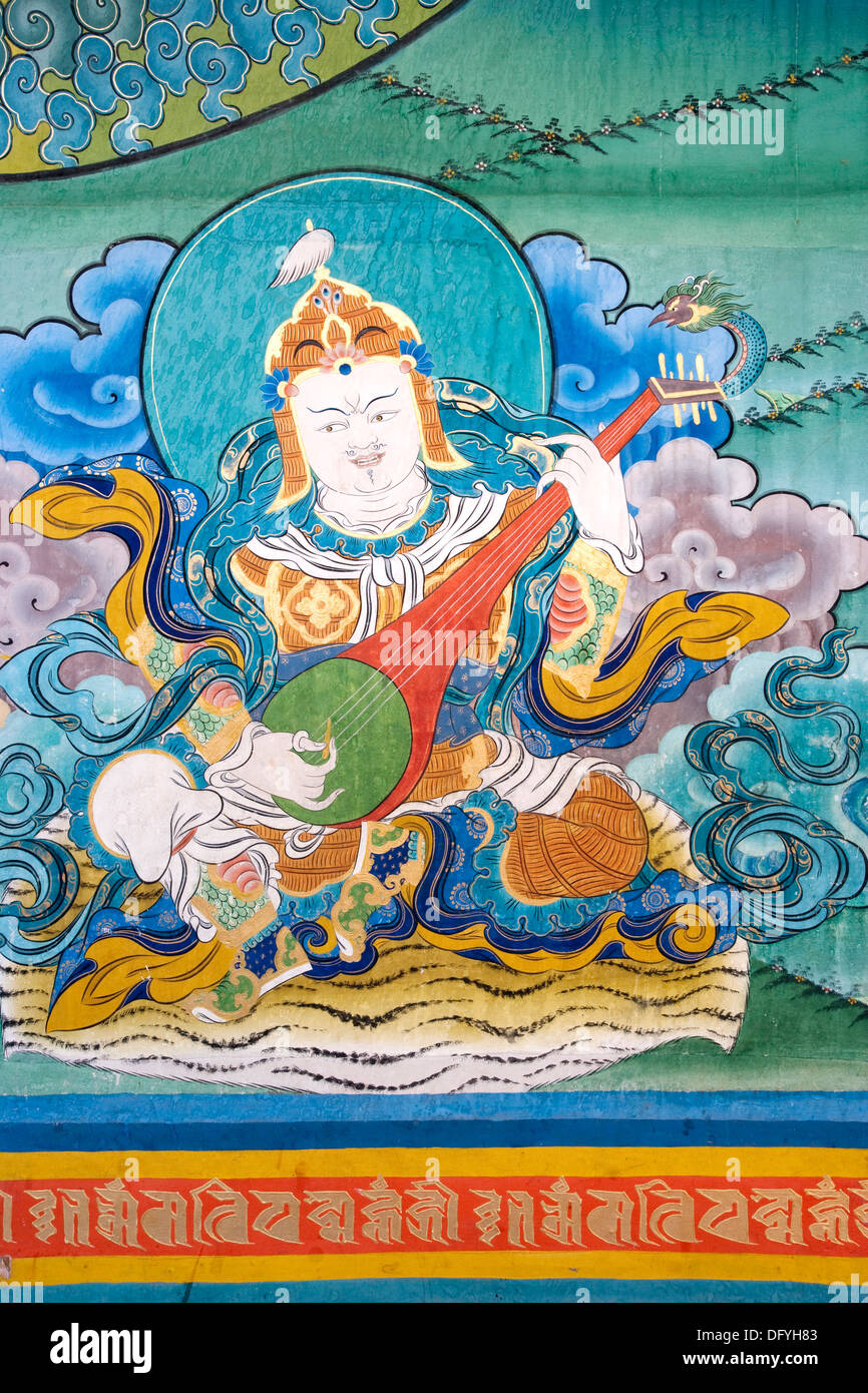 religiose paintings in the Buddist Zong - Stock Image