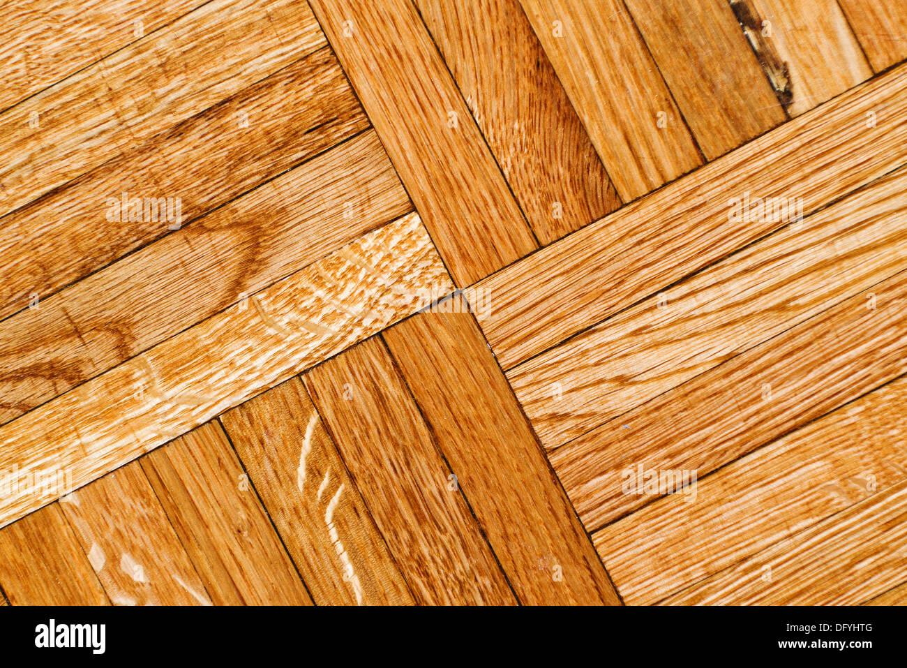 Oak parquet texture, home interior background image. - Stock Image