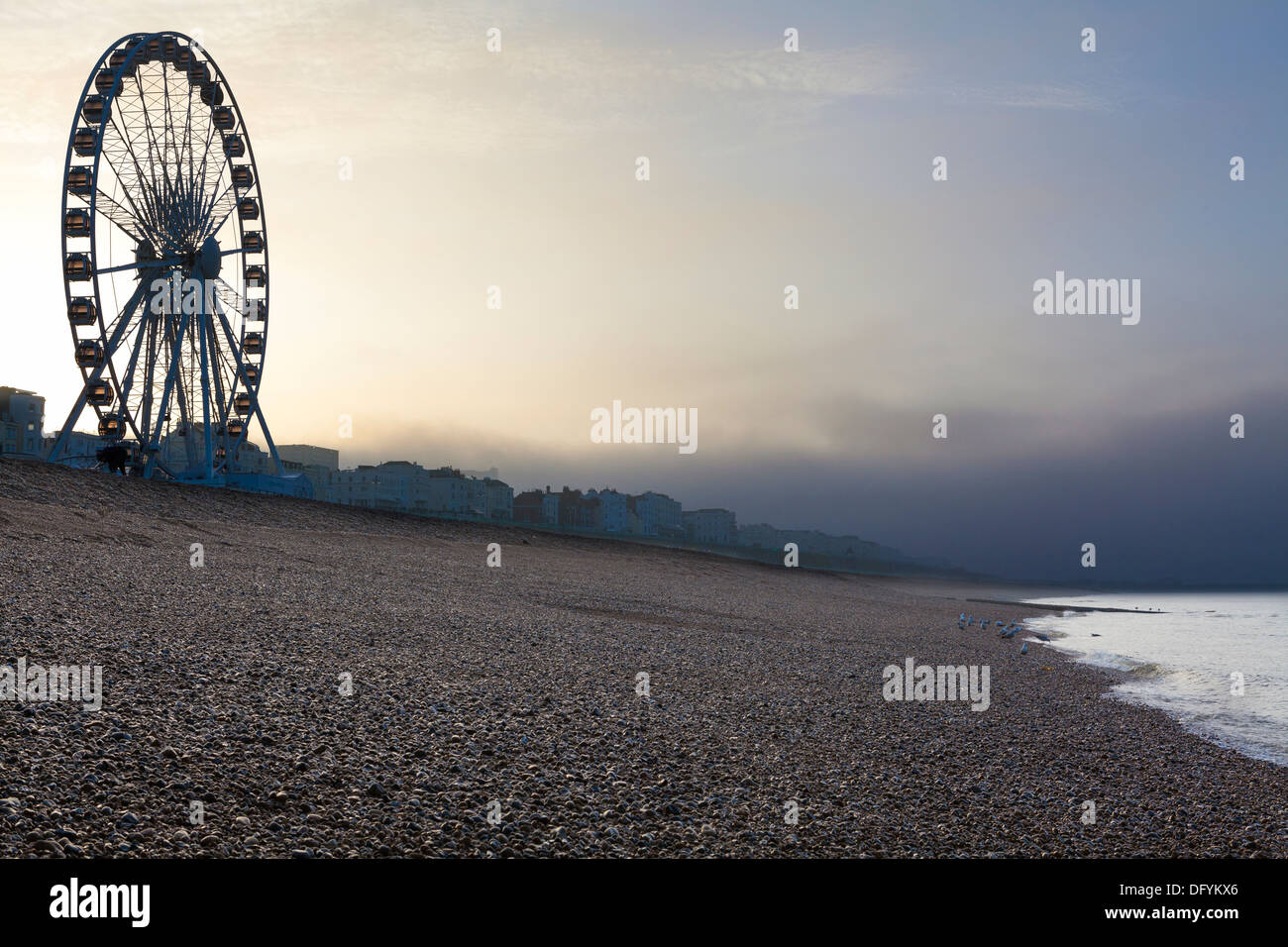 Ferris wheel at the beach front, Brighton, Sussex, United Kingdom, - Stock Image
