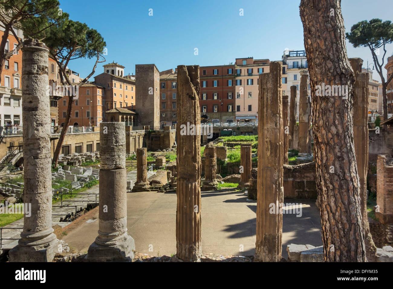 Largo di Torre Argentina is a square in Rome, Lazio, Italy, Europe - Stock Image