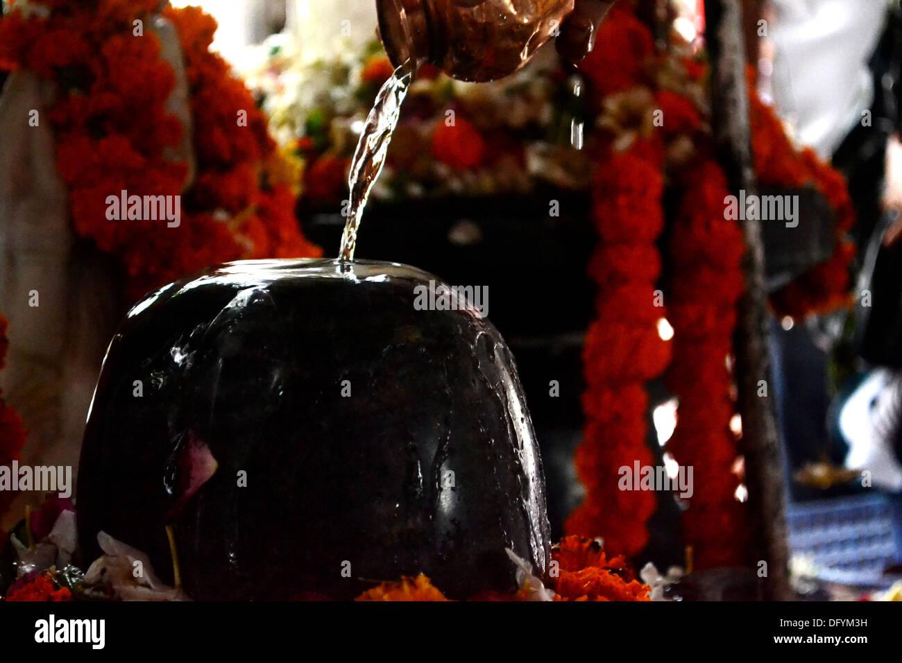 Indian temple, Mahadev, Lord Shiva Temple - Stock Image