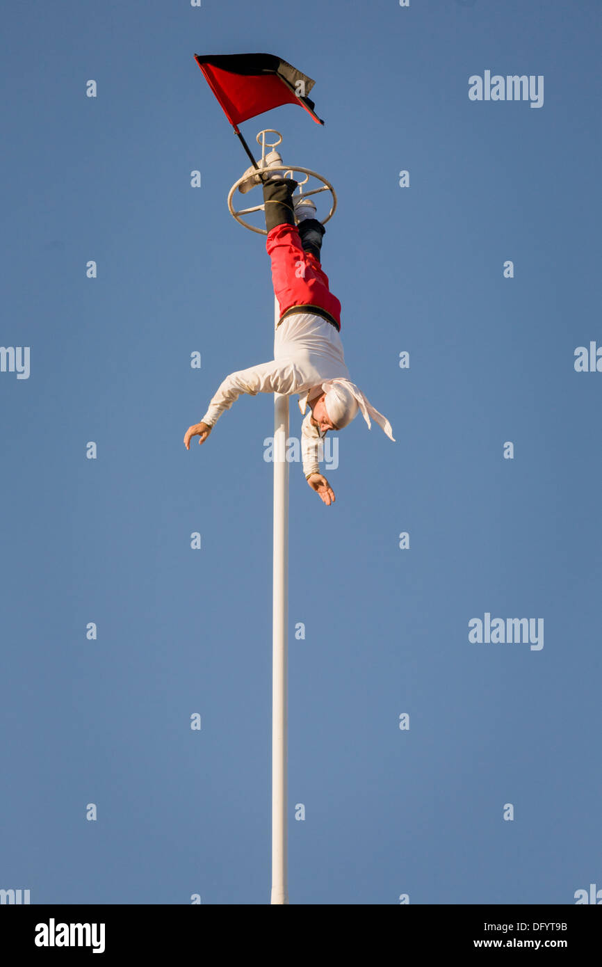 Acrobatic daredevil, Great New York State Fair, Syracuse. - Stock Image