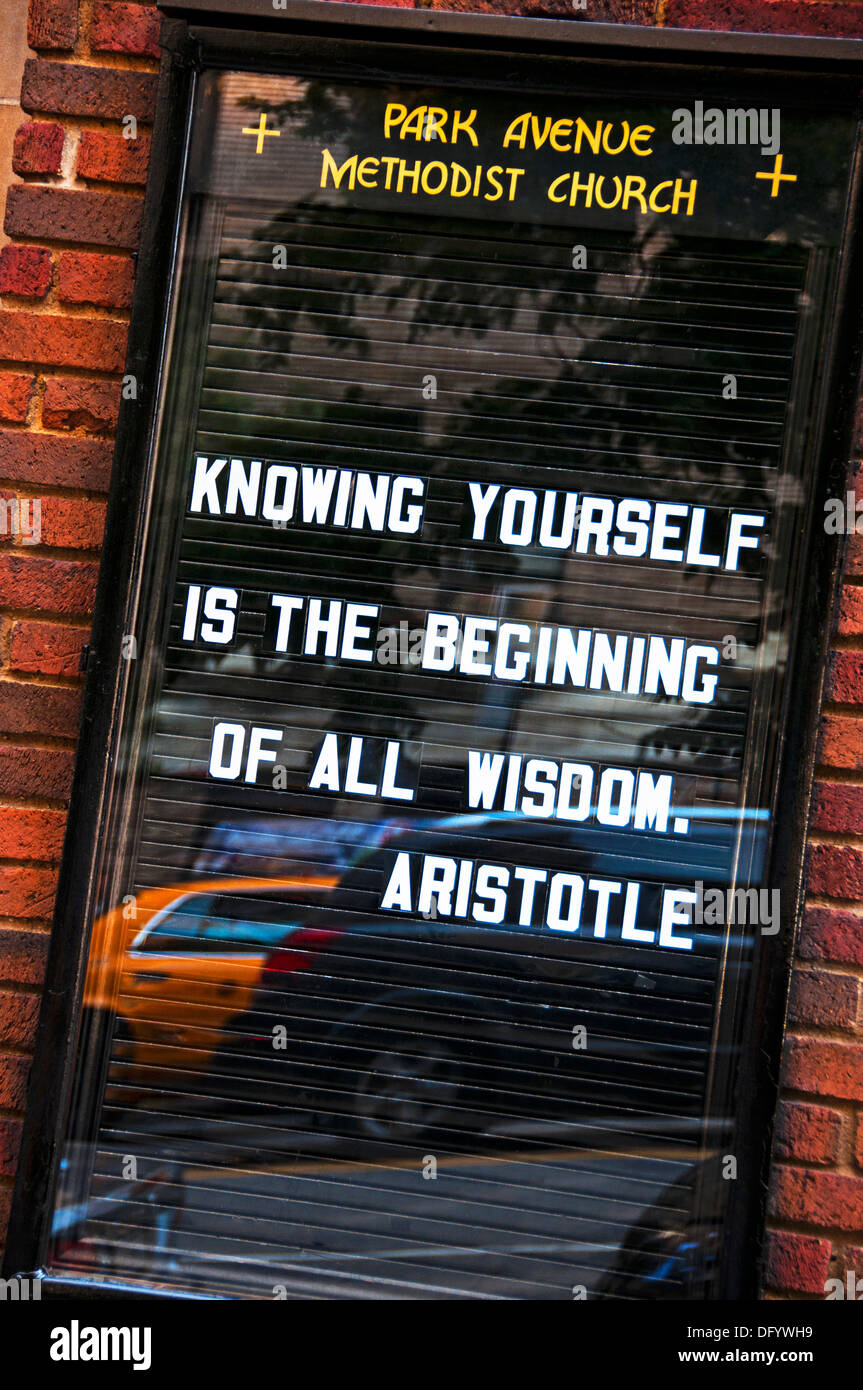 Philosophical saying quote Aristotle - Stock Image