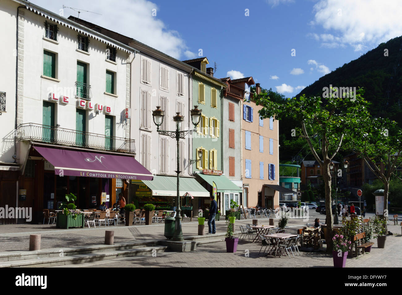 France Ariege Pyrenees Ax Les Thermes Spa Town And Ski Resort